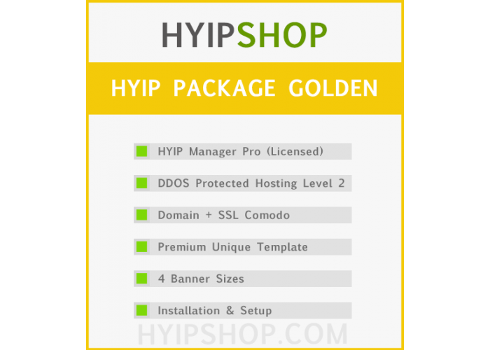 HYIP Package Golden