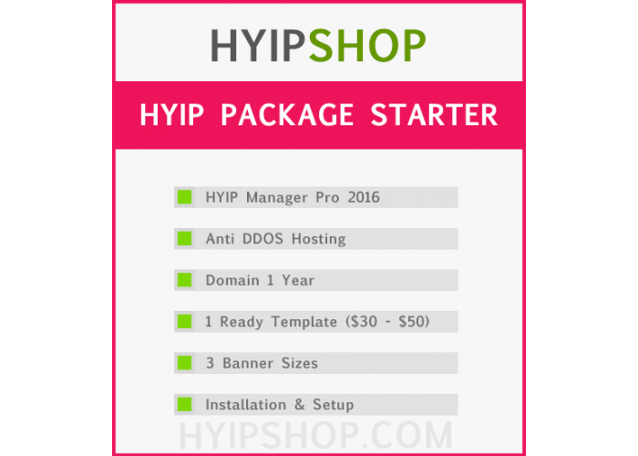 HYIP Package Starter